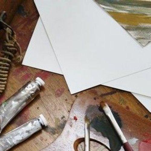 Papier Huile/Acrylique